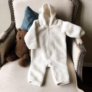 Baby Gap teddy bear zipper one-piece